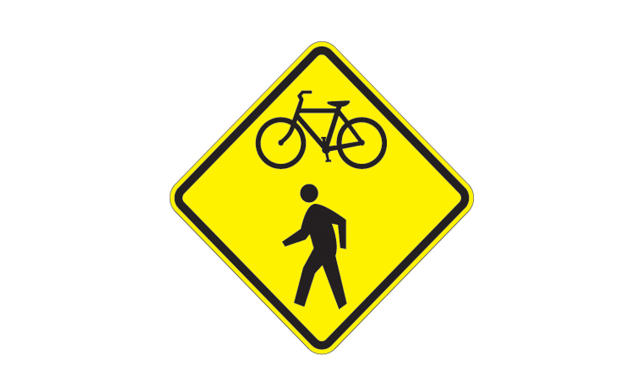 Pedestrian And Bike Crossing Sign W11 15 Traffic Safety