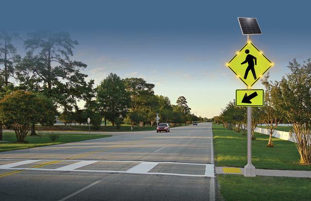 Led Pedestrian Crosswalk Blinkersign Traffic Safety