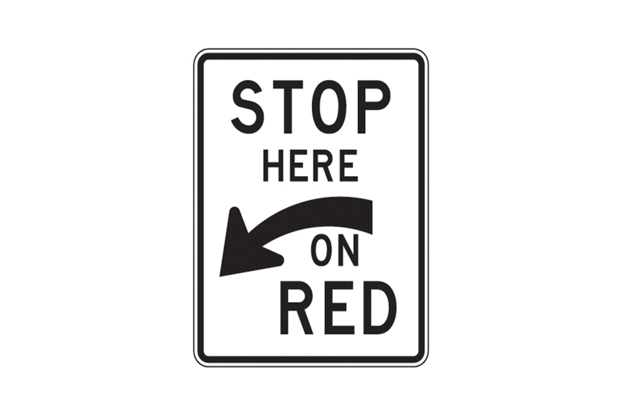 Stop Here On Red Sign R10 6a Traffic Safety Supply Company