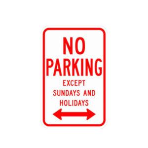 No_Parking_Except