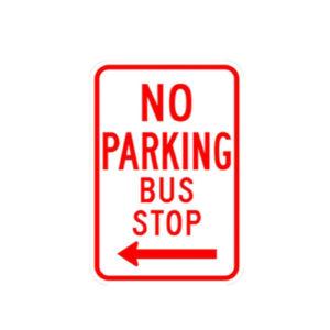 No Parking Bus Stop