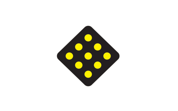 object marker black and yellow
