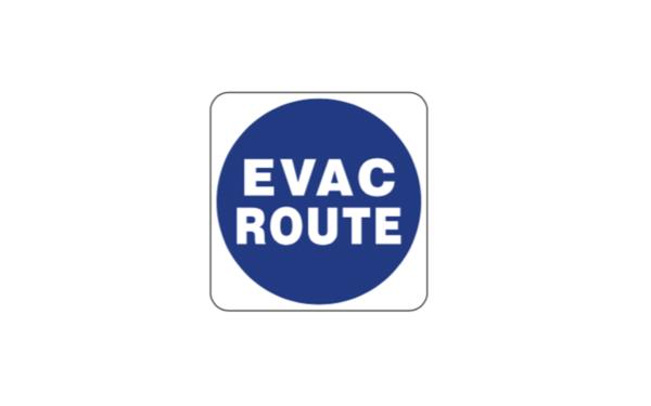 Evac Route Sign