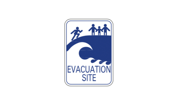 Evacuation Site Sign