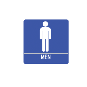 Mens restroom braille