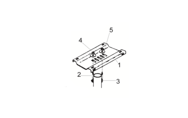 Single_Mailbox Mounting_Bracket_Kit