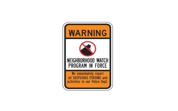 Warning neighborhood watch