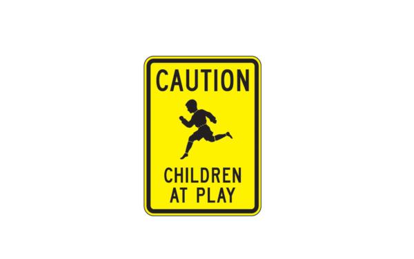 caution children at play