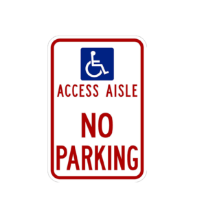 Access Aisle Sign