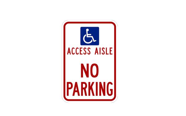 Access Aisle Sign