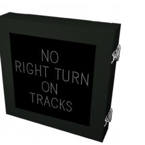 No right turn on tracks